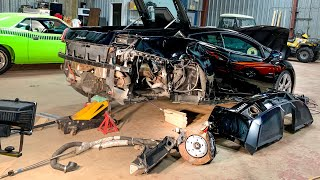 REBUILDING MY WRECKED MANUAL LAMBORGHINI!! *BOUGHT AT SALVAGE AUCTION**