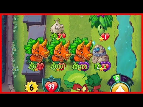 Grass Knuckle Coffee Grounds and Bonus Attack - Plants vs Zombies Heroes Gameplay