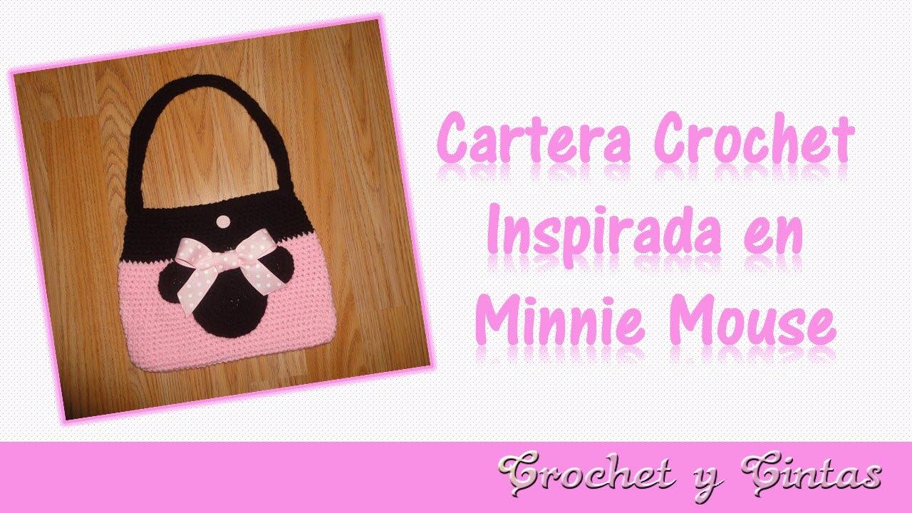 Cartera crochet (ganchillo) inspirada en Minnie Mouse – Parte 2 ...
