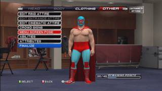How to make Nacho Libre ( Jack Black ) On WWE Smackdown VS Raw 2011 / SVR 2011 ( tutorial )