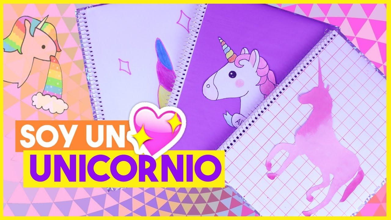 Decorar Cuadernos Kawaii Unicornios Regreso A Clases Akari Beauty