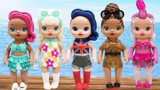 Play Doh Outfits L.O.L Surprise Doll Series 3 Boss Queen Treasure Showbaby Go-Go Gurl