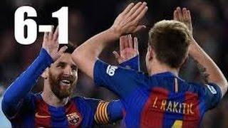Barcelona vs PSG 6-1 - All Goals & Highlights 08/03/2017 برشلونة وباريس