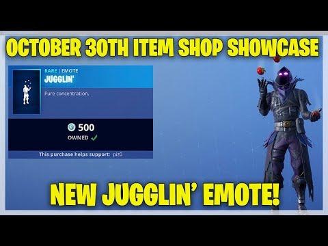 Fortnite Item Shop NEW JUGGLIN' EMOTE [October 30th, 2018] (Fortnite Battle Royale)