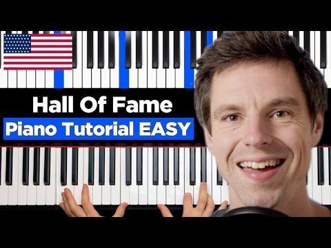 The Script - Hall Of Fame  - Ft. Will.i.am - Piano Tutorial - EASY
