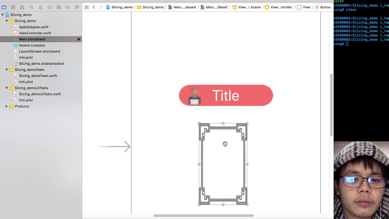 Drawing Line Xcode : Xcode image slicing tutorial youtube