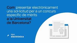 Com presentar electrònicament una sol·licitud per a un concurs específic de mèrits a la UB?