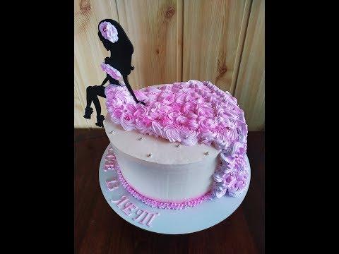 ТОРТ с СЮРПРИЗОМ. КАК УКРАСИТЬ ТОРТ на День рождения.  Белковое украшение торта. Юлия Клочкова.