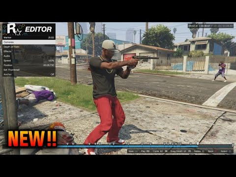 GTA 5 Rockstar Editor Tutorial - How To Use Rockstar Editor (GTA 5 Online DLC Rockstar Editor)