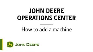 Operations Center  How to add a machine