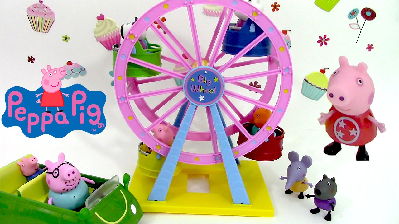 peppa pig jouet grande roue parc d 39 attractions big ferris wheel theme park youtube. Black Bedroom Furniture Sets. Home Design Ideas