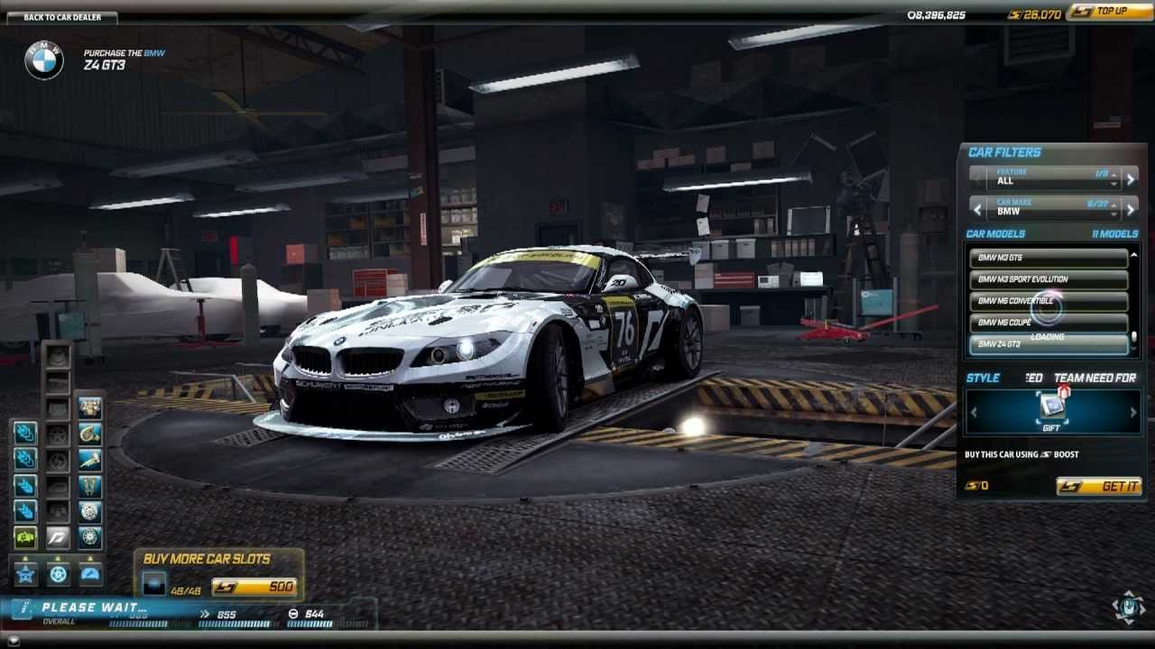 Need For Speed World Bmw Z4 Gt3 Team Nfs Youtube