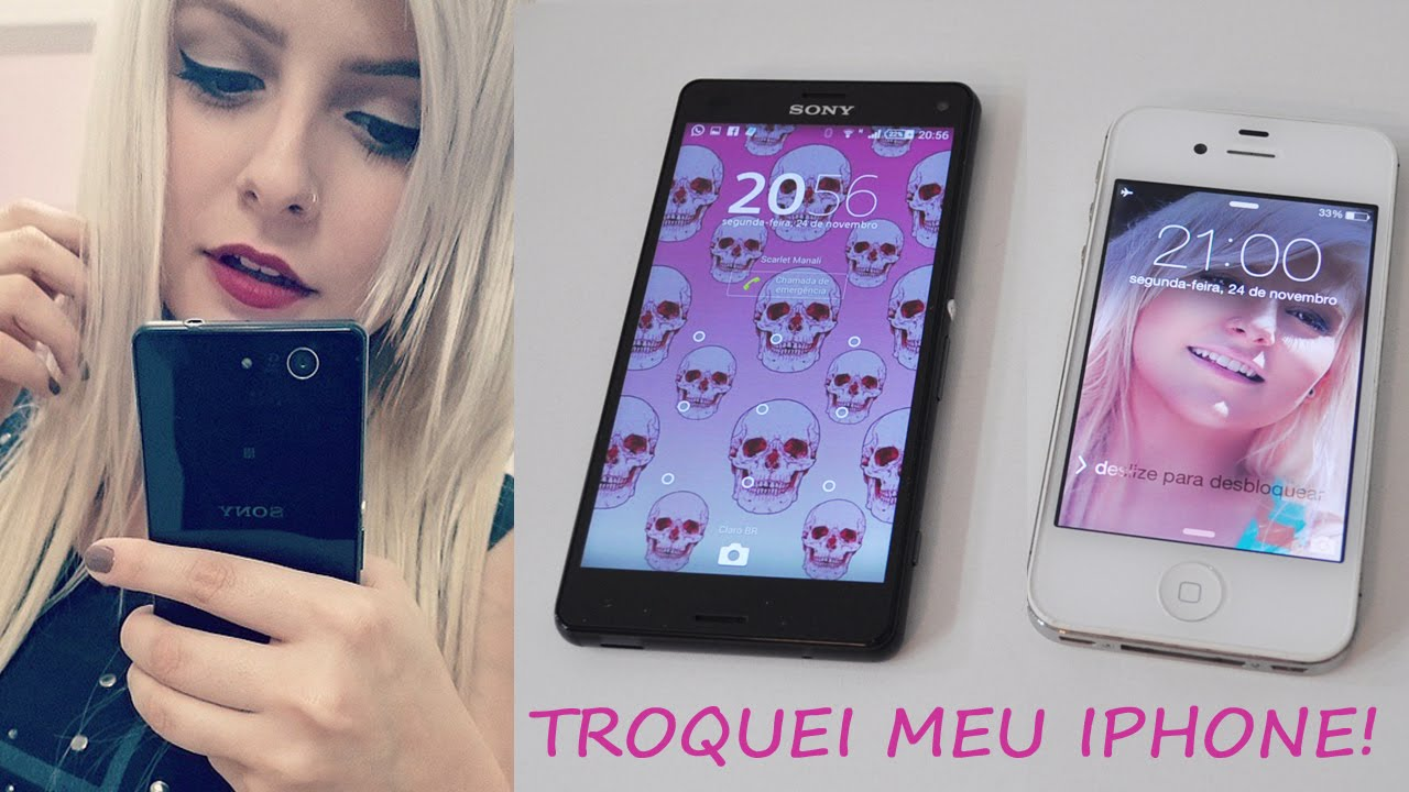 Meu Celular Novo ♡ Z3 Compact X IPhone 4S
