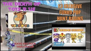 E3 Exclusive Funko Pop Hunt Begins! Restricted Area at Toys R Us!? Porkchop Chase!