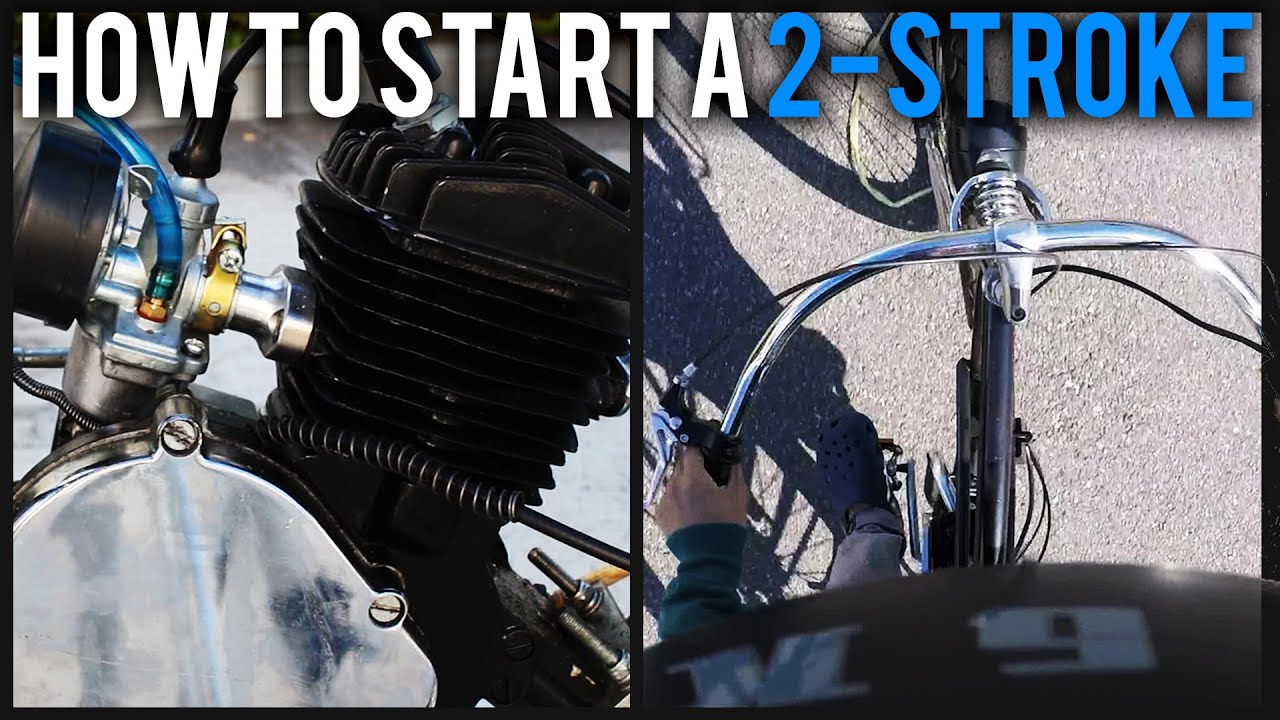 How to Start a 2-Stroke Motorized Bicycle