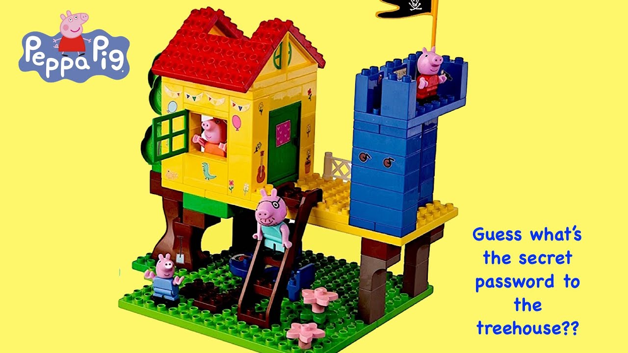 Play Doll's story with Peppa Pig Family - Peppa Pig Tree House
