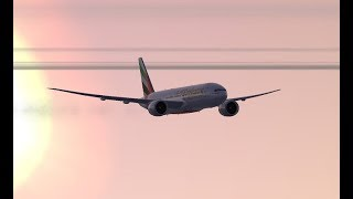 Dubai Intl (OMDB) to Fort Lauderdale Hollywood Intl (KFLL) FSX PMDG Emirates B777-200LR
