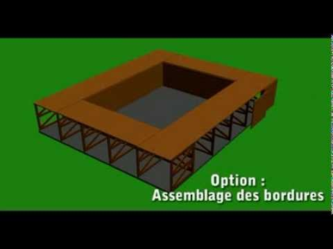 montage d 39 une piscine en bois exotique piscine plage youtube. Black Bedroom Furniture Sets. Home Design Ideas