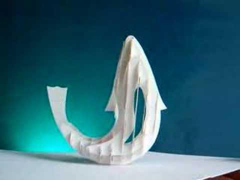 pop-up card - sliceform -fish dance (Masahiro Chatani