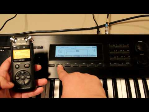 Roland W-30 sampling and sequencing - early '90s Techno style