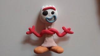Tutorial paso a paso  Forky de Toy Story   en plastilina