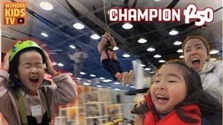 챔피언1250 익스트림 키즈카페~ 두근두근~ 집라인 도전 용산 챔피언 indoor playground for children