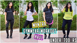 Myntra SUPER Affordable Gym/Dance Wear Haul Under 700 Rs | What I Eat in a Day