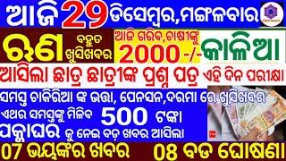 kalia yojana 3rd Phase Money transfer date   29 December 2020   Heavy to heavy rain in odisha