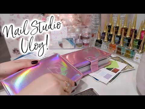 Putting Away Christmas Nail Art! | Nail Studio Vlog | Mini Nail Art Glitter Haul