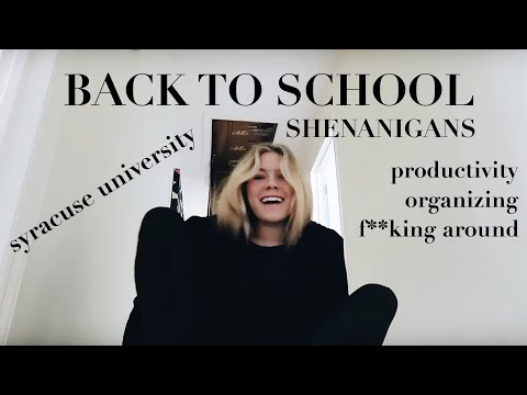 BACK TO COLLEGE VLOG! Packing and Organizing- Syracuse Unive