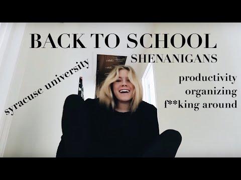 BACK TO COLLEGE VLOG! Packing and Organizing- Syracuse University