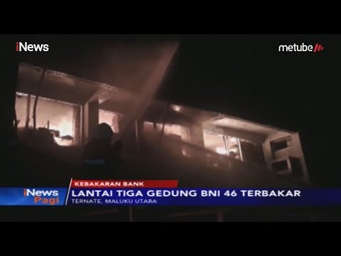 BNI di Ternate Terbakar, 7 Unit Damkar Diterjunkan - iNews Pagi 30/05