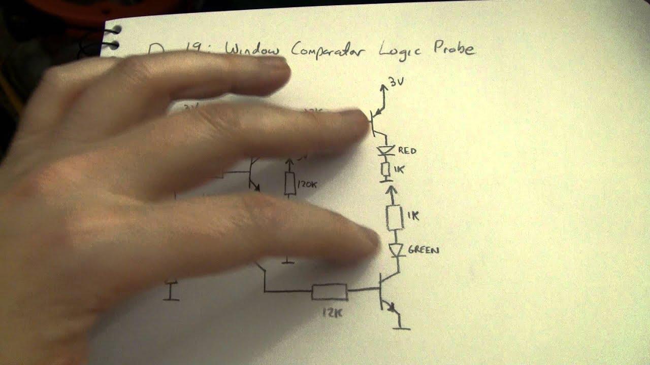 Advent Calendar Of Circuits 2011 Day 19 Window Comparator Logic Circuit Probe