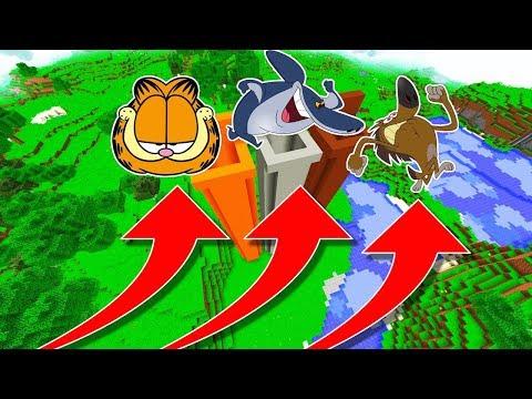 NE TOMBEZ PAS DANS LE MAUVAIS TROU MINECRAFT !! Garfield Sharko Zig !
