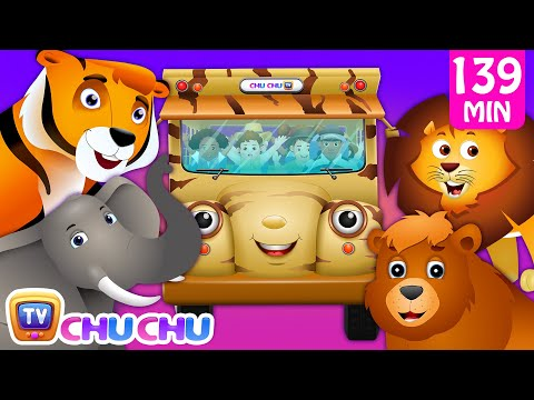 Thumbnail: Wheels on the Bus - Wild Animals & Animal Sounds and Many more Nursery Rhymes Collection | ChuChu TV