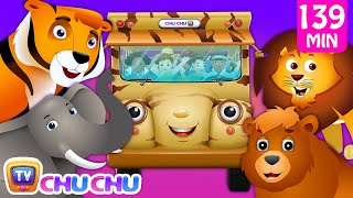 Wheels on the Bus - Wild Animals & Animal Sounds and Many more Nursery Rhymes Collection | ChuChu TV thumbnail