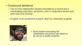 Grammar and Punctuation Lesson 2 - Sentence Types and Commas