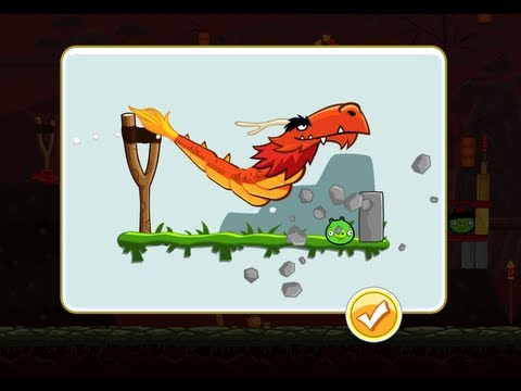 Angry Birds Seasons 2012 Update Secret Dragon Character Revealed!!!