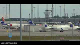[HD]Amazing Copenhagen Airport - B747, B777, A330, Embraer ERJ 170 Etc.