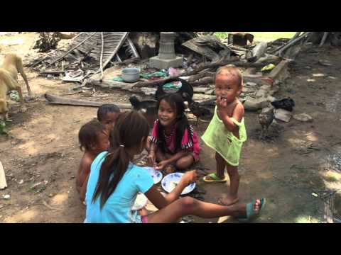 Living poor rural areas in Cambodia-poor living conditions-Poor people living
