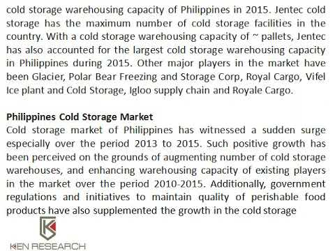 Philippines Cold Chain Market Research Size Ken