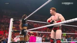 Sheamus & AJ vs Dolph Ziggler & Vickie Guerrero WWE Raw 7/2/12