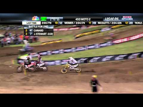 Trey Canard & James Stewart Battle Again - 2013 Spring Creek MX 450 Moto 2 Final Laps