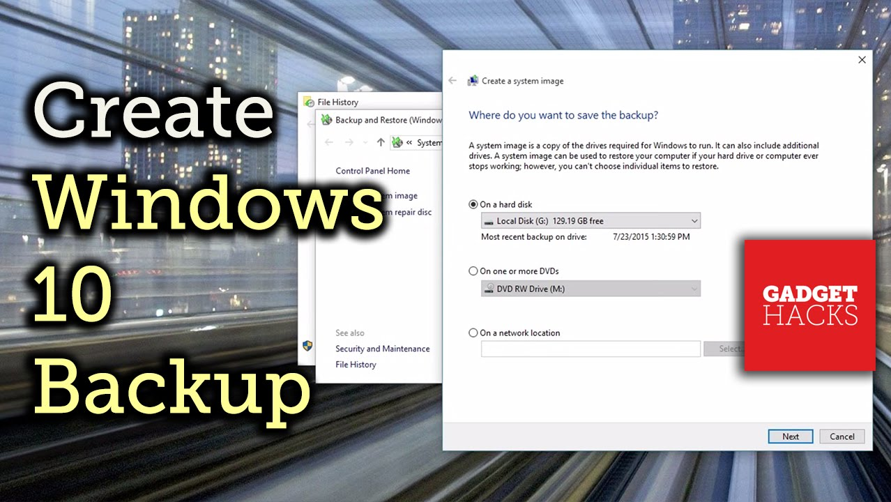 create windows 10 backup disk