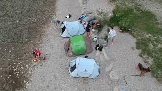 Lago Santa Croce wild camping night 2017