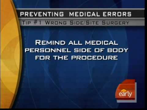 Preventing Medical Mistakes