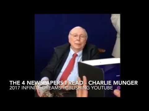 Which 4 Newspapers & How Many Books I read Daily - Charlie Munger Interview 2017
