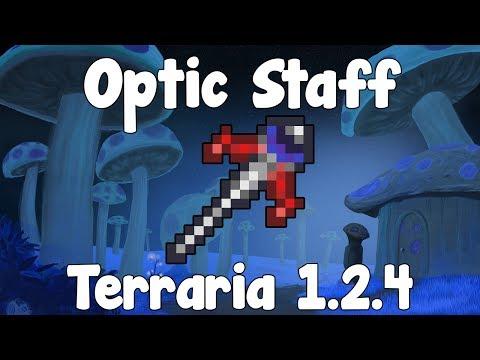 Optic Staff , Twins Summoner Pet! - Terraria 1.2.4 Guide New Summoner Weapon! - GullofDoom