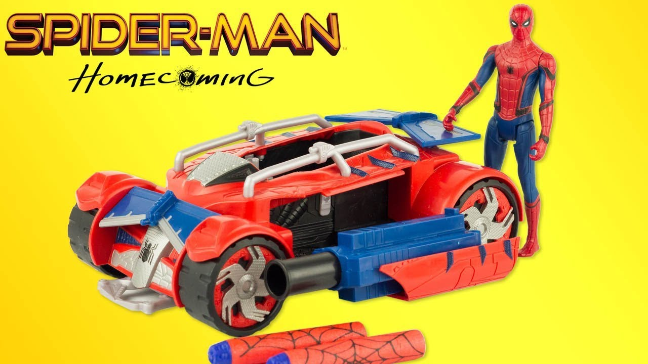 Juguetes Man Spider Homecoming Hasbro Racer Nerf Toy Review 53L4ARj