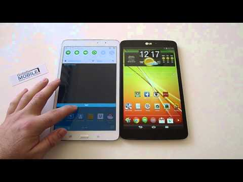 Samsung Galaxy Tab PRO 8.4 vs LG G Pad 8.3 Video Comparison